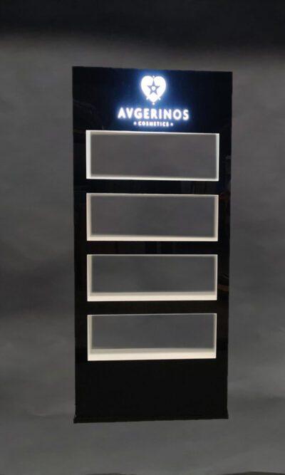 Plexiglass - Επιδαπέδιο stand Καλλυντικών Φωτιζόμενο
